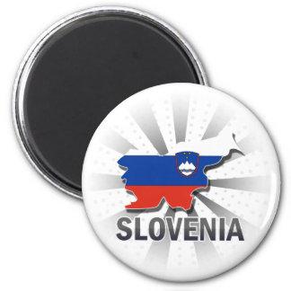 スロベニアの旗の地図2.0 マグネット