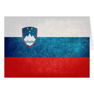 スロベニアの旗 カード