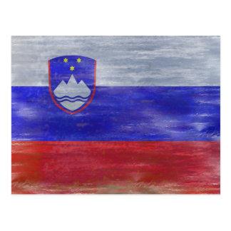 スロベニアの旗-スロベニアの旗-個人化して下さい ポストカード