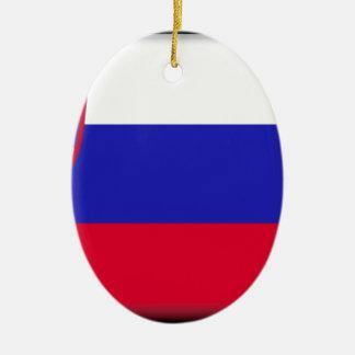 スロベニアの旗 セラミックオーナメント