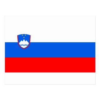 スロベニアの旗 ポストカード