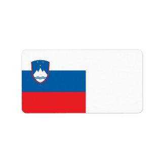 スロベニアの旗 ラベル
