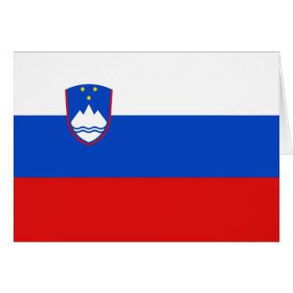 スロベニアの旗Notecard カード