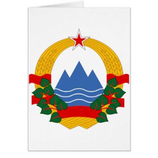 スロベニアの社会主義共和国の紋章 カード