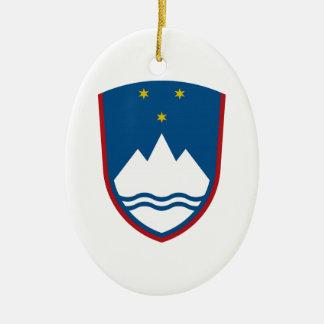 スロベニアの紋章付き外衣 セラミックオーナメント
