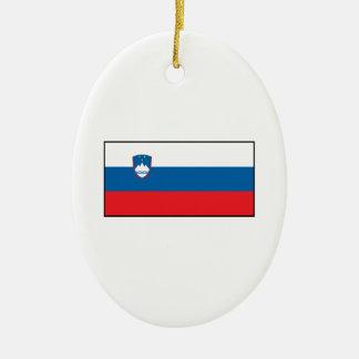 スロベニアスロベニアの旗 セラミックオーナメント