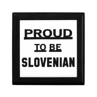 スロベニア語があること誇りを持った ギフトボックス