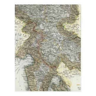 スロベニア、クロアチア ポストカード