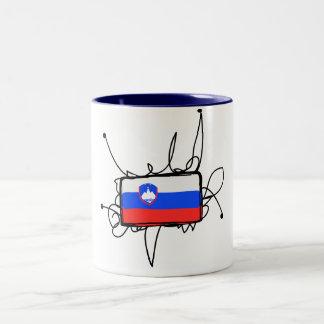 スロベニア ツートーンマグカップ
