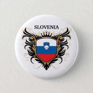 スロベニア[個人化して下さい] 5.7CM 丸型バッジ