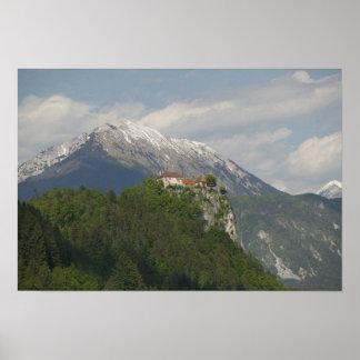 スロベニア、出血するGORENJSKA: 出血させた城及び2 ポスター