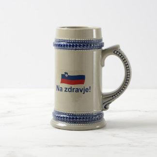 スロベニアNaのzdravje! (あなたの健康に!) ビールジョッキ