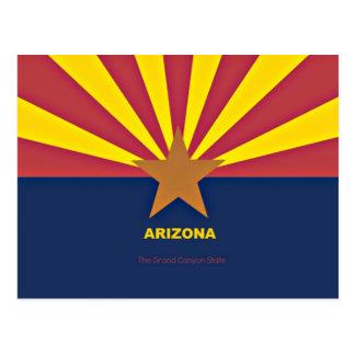 スローガンを用いるアリゾナの旗 ポストカード