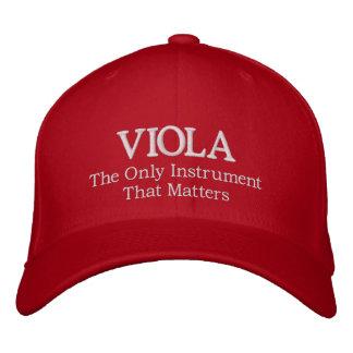 スローガンを用いる刺繍されたビオラの帽子 刺繍入りキャップ