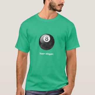 スローガンを用いる迷彩柄の版8球のティー Tシャツ