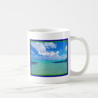 スローガンを用いるSorobonボネールの眺めのデザインは決してやめません コーヒーマグカップ