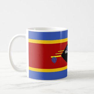 スワジランドの国の長い旗の国家の記号 コーヒーマグカップ