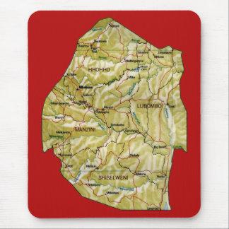 スワジランドの地図のマウスパッド マウスパッド