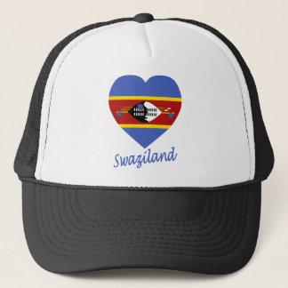 スワジランドの旗のハート キャップ
