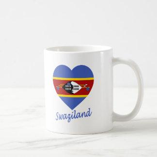 スワジランドの旗のハート コーヒーマグカップ