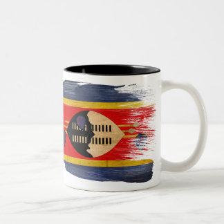 スワジランドの旗のマグ ツートーンマグカップ