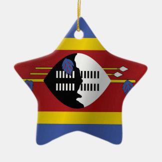 スワジランドの旗 セラミックオーナメント