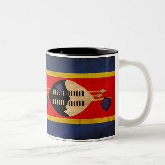 スワジランドの旗 ツートーンマグカップ