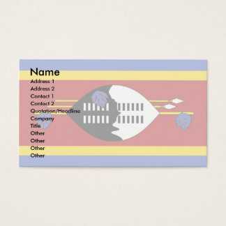 スワジランドの旗 名刺