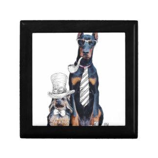 スワッグのおもしろいなパーティ犬のスタイルガラス ギフトボックス
