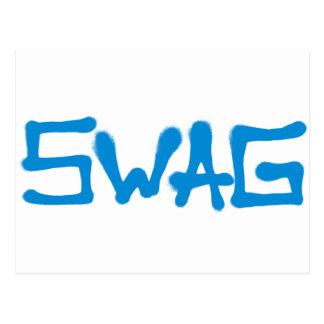 スワッグのラベル-青 ポストカード