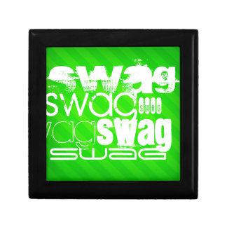 スワッグ; ネオン緑のストライプ ギフトボックス