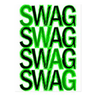 スワッグ-緑 ポストカード