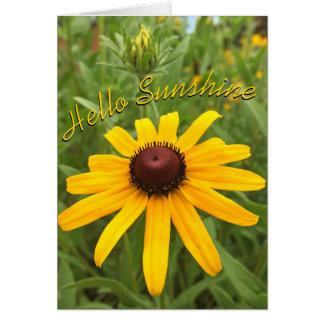 スーザンおよび芽の黒目の写真 カード