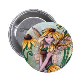 """""""スーザン""""のronneによる妖精のファンタジーの芸術ボタン 5.7cm 丸型バッジ"""