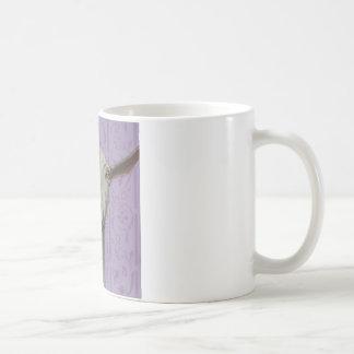 スージーSharpe著Saanenの白いヤギ コーヒーマグカップ