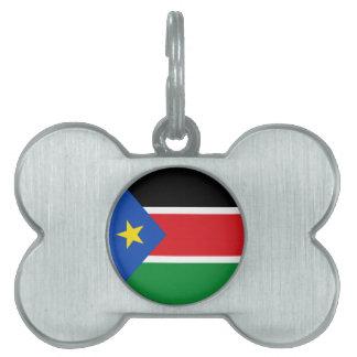 スーダンの南旗 ペットネームタグ
