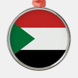 スーダンの国旗の国家の記号 メタルオーナメント