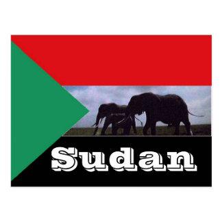 スーダンの旗 ポストカード