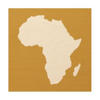 スーダンブラウン大胆なアフリカ ウッドウォールアート