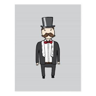 スーツの紳士 ポストカード