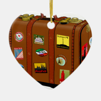 スーツケース セラミックオーナメント