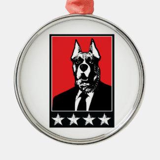 スーツ犬 メタルオーナメント