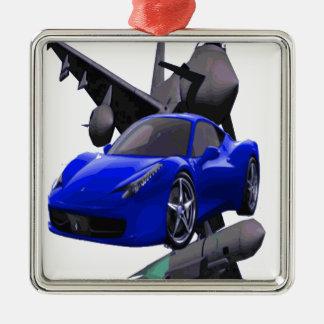 スーパーカー、車 メタルオーナメント