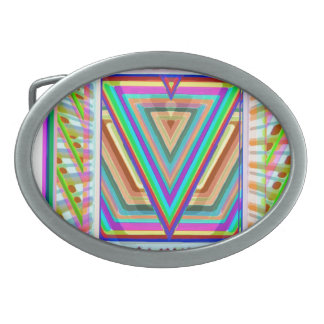 スーパースターの三角形のロゴ 卵形バックル