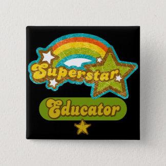 スーパースターの教育者 5.1CM 正方形バッジ