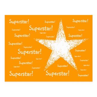 スーパースター! |のオレンジ ポストカード