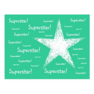 スーパースター! |のターコイズ ポストカード