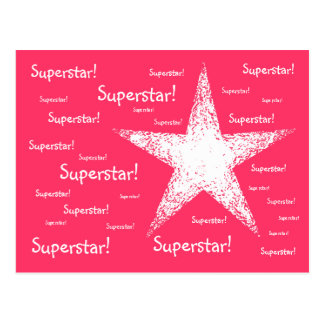 スーパースター! |のピンク ポストカード