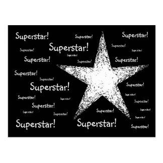 スーパースター! |の黒 ポストカード