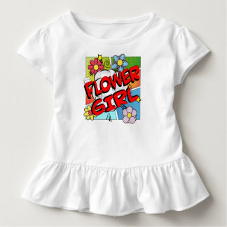 スーパーヒーローのフラワー・ガール トドラーTシャツ